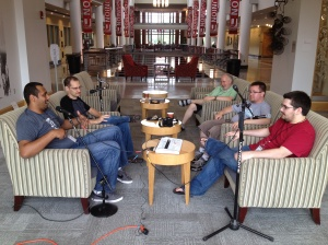 WPCandy recording a podcast at The Ohio Union